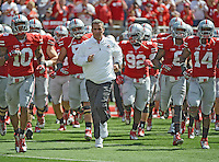 Ohio State Buckeyes head coach Urban Meyer against University of Alabama at Birmingham Blazers in their NCAA football game at Ohio Stadium, September 22, 2012. (Dispatch photo by Neal C. Lauron)