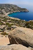 Granite rocks on the coast of Montecristo Island, Mediterranean Sea, Tuscany, Italy.