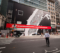 A sign advertises the imminent arrival of an H&M department store on Fifth Avenue in New York, seen on Wednesday, July 31, 2013.   (© Richard B. Levine)