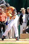 21 May 2007: Baltimore Orioles infielder Melvin Mora participates in the pre-game Home Run Derby at Doubleday Field prior to Baseball's Annual Hall of Fame Game in Cooperstown, NY. Mora hit 3 homers in the first round of competition, but needed 6 to continue on to the second round of the event...Mandatory Credit: Ed Wolfstein Photo