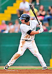 24 July 2010: Vermont Lake Monsters outfielder Wade Moore in action against the Lowell Spinners at Centennial Field in Burlington, Vermont. The Spinners defeated the Lake Monsters 11-5 in NY Penn League action. Mandatory Credit: Ed Wolfstein Photo