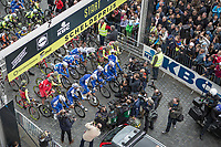 Tom Boonen (BEL/Quick Step Floors) attrackts a lot of press attention.  He is riding his last race on Belgian soil with the start in his hometown of Mol.<br /> <br /> 105th Scheldeprijs 2017 (1.HC)<br /> 1day race: Mol &gt; Schoten 200km