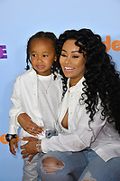 Model Blac Chyna &amp; son King Cairo Stevenson at the Nickelodeon 2017 Kids' Choice Awards at the USC's Galen Centre, Los Angeles, USA 11 March  2017<br /> Picture: Paul Smith/Featureflash/SilverHub 0208 004 5359 sales@silverhubmedia.com