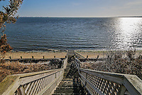 Stairs to Mecox Bay, 22 Oceanview Drive, Southampton, Long Island, New York