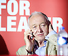 Jeremy Corbyn MP <br /> Rally for the Labour Leadership <br /> at the Camden Centre, London, Great Britain <br /> 3rd August 2015 <br /> <br /> Ken Livingstone, former mayor of London speaks to the audience before Jeremy Corbyn arrives on stage <br /> <br /> Photograph by Elliott Franks <br /> Image licensed to Elliott Franks Photography Services
