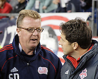 New England Revolution head coach Steve Nicol and Toronto FC head coach Preki have a few words before the Revolutions home opener at Gillette Stadium.  The New England Revolution defeated Toronto FC, 4-1, on April 10.2010
