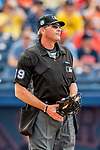 1 March 2017: MLB Umpire Paul Nauert works home plate during a Spring Training game between the Houston Astros and the Miami Marlins at the Ballpark of the Palm Beaches in West Palm Beach, Florida. The Marlins defeated the Astros 9-5 in Grapefruit League play. Mandatory Credit: Ed Wolfstein Photo *** RAW (NEF) Image File Available ***