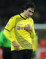 FUSSBALL   CHAMPIONS LEAGUE   SAISON 2011/2012  Borussia Dortmund - Olympique Marseille   06.12.2011 Mats HUMMELS (Dortmund) ist nach dem Abpfiff enttaeuscht