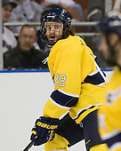 Jeff Velleca (Merrimack - 28) - The University of Notre Dame Fighting Irish defeated the Merrimack College Warriors 4-3 in overtime in their NCAA Northeast Regional Semi-Final on Saturday, March 26, 2011, at Verizon Wireless Arena in Manchester, New Hampshire.