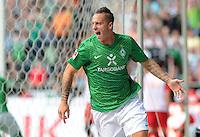 FUSSBALL   1. BUNDESLIGA   SAISON 2011/2012    3. SPIELTAG SV Werder Bremen - SC Freiburg                             20.08.2011 Marko ARNAUTOVIC (Bremen) jubelt ueber das Tor zum 3:2