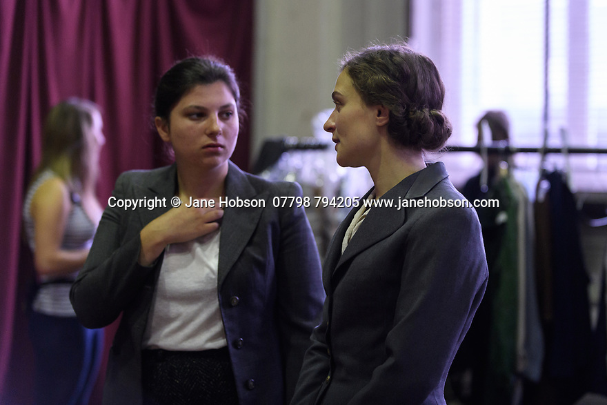 """London, UK. 29.07.2016. On the set of short film """"Little Bird"""", written by Emilly Taaffe, directed by Georgia Oakley, produced by Emily Taaffe and Rebecca Cronshey, Director of Photography Nanu Segal. Staring Emily Taaffe and Imelda Staunton. Photograph © Jane Hobson."""