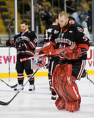 Chris Rawlings (Northeastern - 37) - The Boston College Eagles defeated the Northeastern University Huskies 5-4 in their Hockey East Semi-Final on Friday, March 18, 2011, at TD Garden in Boston, Massachusetts.