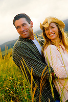 Couple Outdoors In the Country