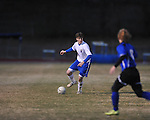 Oxford's Henry Webb (36) vs. Saltillo in boys high school soccer action at Oxford High School in Oxford, Miss. on Thursday, January 27, 2011.