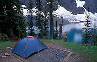 Backcountry Campground at Floe Lake,.Kootenay National Park,.British Columbia, Canada