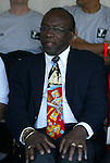 13 July 2003: CONCACAF president and FIFA vice president Jack Warner of Trinidad and Tobago watches the game. The Boston Breakers defeated the Philadelphia Charge 3-1 at Boston University's Nickerson Field in Boston, MA in a regular season WUSA game.