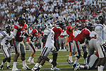 Ole Miss kicker Bryson Rose (81) misses a field goal vs. Central Arkansas at Vaught-Hemingway Stadium in Oxford, Miss. on Saturday, September 1, 2012. Ole Miss won 49-27.