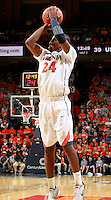 CHARLOTTESVILLE, VA- NOVEMBER 29: K.T. Harrell #24 of the Virginia Cavaliers shoots the ball during the game on November 29, 2011 at the John Paul Jones Arena in Charlottesville, Virginia. Virginia defeated Michigan 70-58. (Photo by Andrew Shurtleff/Getty Images) *** Local Caption *** K.T. Harrell