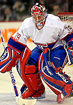 9 December 2006: Montreal Canadiens goaltender Cristobal Huet (39) of France warms up prior to a game against the Buffalo Sabres at the Bell Centre in Montreal, Canada. The Sabres defeated the Canadiens 3-2 in a shootout, taking their third contest in the month of December. Mandatory Photo credit: Ed Wolfstein Photo<br />  *** Editorial Sales through Icon Sports Media *** www.iconsportsmedia.com