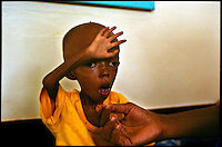 Garissa, NE Kenya, March 2006.Garissa regional hospital, Therapeutic Feeding Centre.  Uba Aden, 2, suffers from TB and malaria, as well as severe malnutrition, she is one of more than 4 millions people affected in the region by the worst drought in man's memory.
