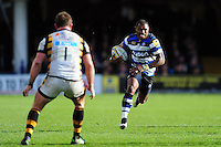 Semesa Rokoduguni of Bath Rugby in attack. Aviva Premiership match, between Bath Rugby and Wasps on March 4, 2017 at the Recreation Ground in Bath, England. Photo by: Patrick Khachfe / Onside Images
