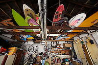 A garage full of adventure gear<br /> <br /> <br /> <br /> Style: &quot;cont 5 sat 10&quot;