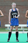 30 September 2016: Duke's Robin Blazing. The Duke University Blue Devils hosted the Boston College Eagles at Jack Katz Stadium in Durham, North Carolina in a 2016 NCAA Division I Field Hockey match. Duke won the game 6-2.
