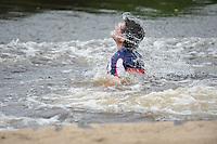 FIERLJEPPEN: JOURE: 26-06-2013, Fierljepferiening De Legewalden, 1e Klas wedstrijd, Senioren Topklasse, Ysbrand Galama, ©foto Martin de Jong