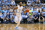 18 November 2015: North Carolina's Joel Berry II. The University of North Carolina Tar Heels hosted the Wofford College Terriers at the Dean E. Smith Center in Chapel Hill, North Carolina in a 2015-16 NCAA Division I Men's Basketball game. UNC won the game 78-58.