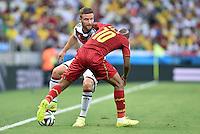 FUSSBALL WM 2014  VORRUNDE    GRUPPE G     Deutschland - Ghana                 21.06.2014 Shkodran Mustafi (li, Deutschland) gegen Andre Ayew (re, Ghana)