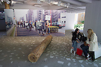 55th Art Biennale in Venice - The Encyclopedic Palace (Il Palazzo Enciclopedico).<br /> Giardini. Japan Pavilion.<br /> Koki Tanaka (Japan). &quot;imaginary distance (or the distance from FUKUSHIMA)&quot;, 2013.