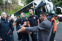 The USA men's team arrives before the United States played Guatemala at Estadio Mateo Flores in Guatemala City, Guatemala in a World Cup Qualifier on Tue. June 12, 2012.