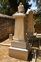 Neo Classic  Tombs of William Calvert Jones, Engineer with the Hellenic Steam Co, Ermoupolis, Syros Island [ ????? ] , Greek Cyclades Islands