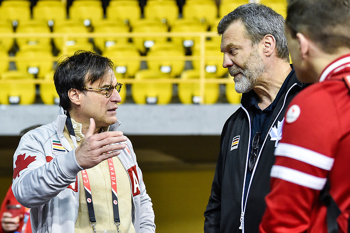 MONTREAL, QC - APRIL 29:  Marc-Andre Fabien speaks with Canadian Paralympic Committee members during the 2017 Montreal Paralympian Search at Complexe sportif Claude-Robillard. Photo: Minas Panagiotakis/Canadian Paralympic Committee