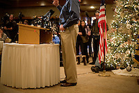 Former congressman Rick Santorum speaks to the Queen City Rotary at the Puritan Backroom restaurant in Manchester, New Hampshire.  Santorum is a candidate for the GOP 2012 presidential nominee.