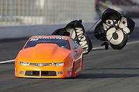 Nov 12, 2016; Pomona, CA, USA; NHRA pro stock driver Bo Butner during qualifying for the Auto Club Finals at Auto Club Raceway at Pomona. Mandatory Credit: Mark J. Rebilas-USA TODAY Sports