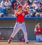 5 March 2013: Washington Nationals infielder Matt Skole in action during a Spring Training game against the Houston Astros at Space Coast Stadium in Viera, Florida. The Nationals defeated the Astros 7-1 in Grapefruit League play. Mandatory Credit: Ed Wolfstein Photo *** RAW (NEF) Image File Available ***