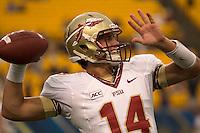 Florida State quarterback Jacob Coker. Florida State defeated Pitt 41-13 at Heinz Field on September 2, 2013.