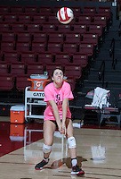 STANFORD, CA., October 26, 2016, Stanford Women's Volleyball vs the Washington Huskies at Maples Pavilion. Stanford won 3-0.