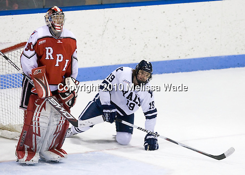 Allen York (RPI - 30), Denny Kearney (Yale - 19) - The Rensselaer Polytechnic Institute (RPI) Engineers defeated the Yale University Bulldogs 4-0 on Saturday, January 30, 2010, at Ingalls Rink in New Haven, Connecticut.