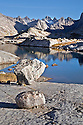 WY01237-00...WYOMING - Morning at a small lake in the Titcomb Basin area of the Wind River Range in the Bridger Wilderness Area.