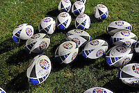 A general view of signed balls, personalised by the Bath Rugby squad. European Rugby Champions Cup match, between Bath Rugby and RC Toulon on January 23, 2016 at the Recreation Ground in Bath, England. Photo by: Patrick Khachfe / Onside Images