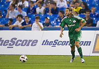 August 03 2010 Panathinaikos FC midfielder Mattias Bjarsmyr No.18 in action during an international friendly between Inter Milan FC and Panathinaikos FC at the Rogers Centre in Toronto..Final score was 3-2 for Panathinaikos FC.