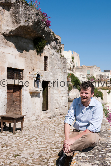 Daniele Kilgrein owner of the cave hotel Le Grotte delle Civita, which is located in one of the oldest parts of the Sasso Barisano area of Matera. The hotel is built in caves originally excavated for homes that were restored into bedrooms alongside a communal area in an ancient church
