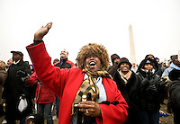 Members of the crowd filling The Mall during the Opening Inaugural Celebration two days before the inauguration of Barack Obama as the 44th President of the United States.