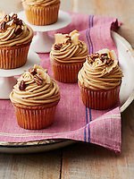 Coconut Pecan Cupcakes with Salted Caramel Frosting