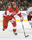 Max Nicastro (BU - 7) - The Boston College Eagles defeated the Boston University Terriers 3-2 (OT) in their Beanpot opener on Monday, February 7, 2011, at TD Garden in Boston, Massachusetts.