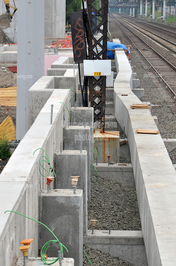 Construction Progress Railroad Station Fairfield Metro Center - Site visit 13 of once per month periodic photography