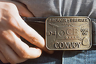 Texas, 1978. What you can see and read when you are at a Truck Stop. This belt buckle is very popular, Convoy was a succesful movie about truck drivers using CB radio.