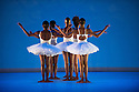 London, UK. 17.06.2014. Dada Masilo's SWAN LAKE at Sadler's Wells, as part of the Sadler's Sampled two week festival. Picture shows: Llewellyn Mnguni (centre - braids). Photograph © Jane Hobson.